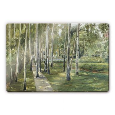 Glasbild Liebermann - Der Garten des Künstlers