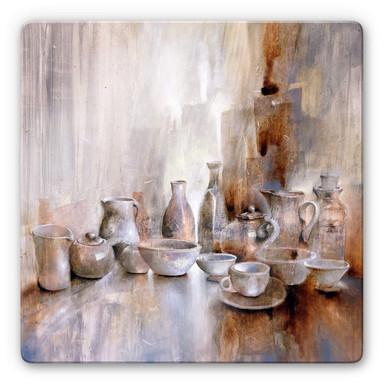 Glasbild Schmucker - Stillleben mit Teekanne 02