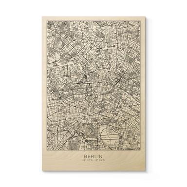 Holzposter Stadtplan Berlin