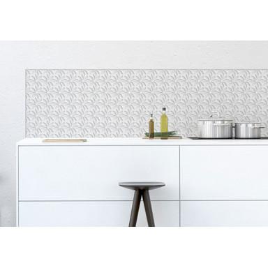 Küchenrückwand - Alu-Dibond - Frozen Flowers