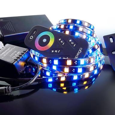 LED Stripe Set 5050-240-Rgb&2700K-4.0M in Schwarz W 1700lm