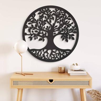MDF - Holzdeko - Baum mit Wurzeln