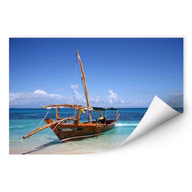 Wallprint Caribbean Sailboat