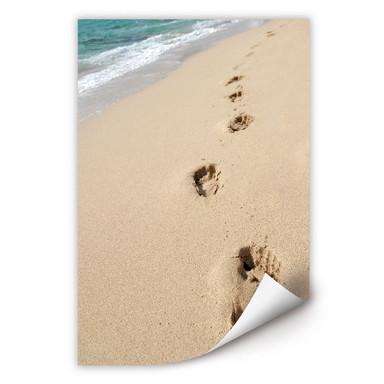 Wallprint Fussspuren im Sand