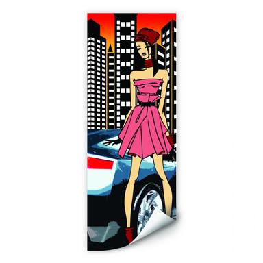 Wallprint Urban Girl Streetstyle