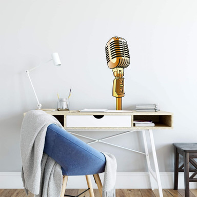 Wandsticker Retro Microphone