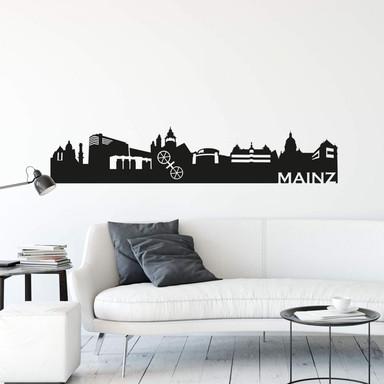 Wandtattoo Mainz Skyline