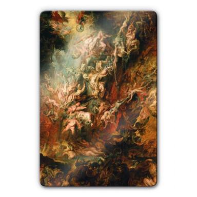 Glasbild Rubens - Der Höllensturz der Verdammten