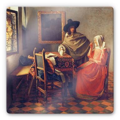 Glasbild Vermeer - Das Glas Wein