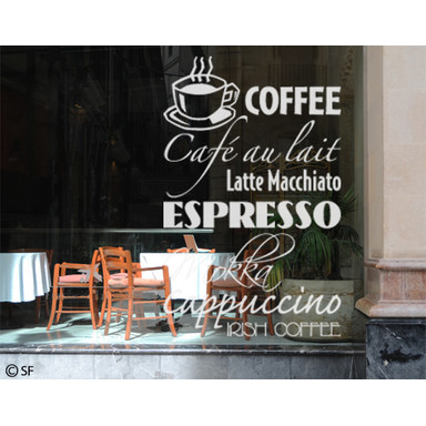 Glasdekor Coffee