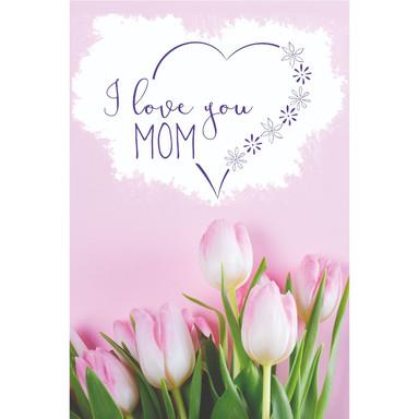Gutschein Muttertag - Rosa Tulpen