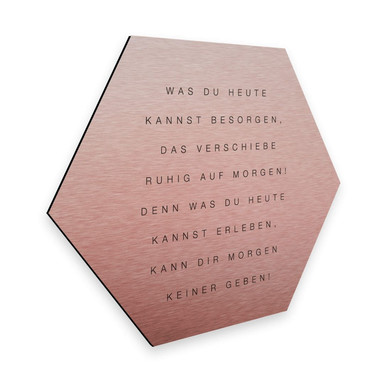 Hexagon - Alu-Dibond-Kupfereffekt - Was du heute kannst besorgen...