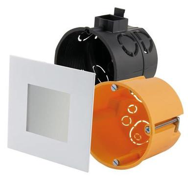 LED Panel 75x75mm weiss 2700K warmweiss 12 LED 2.2W inkl. Vorschaltgerät