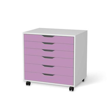 Möbelfolie IKEA Alex Rollcontainer 6 Schubladen - Flieder Light