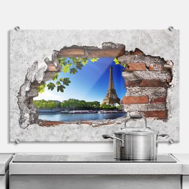 Spritzschutz 3D Optik - Summer in Paris