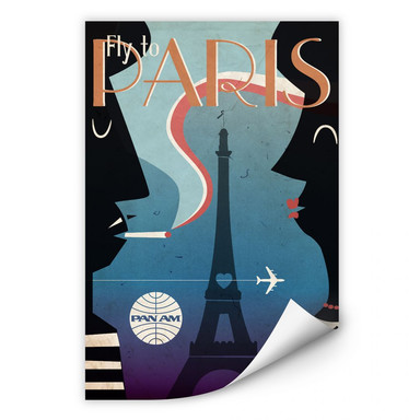 Wallprint PAN AM - Fly to Paris