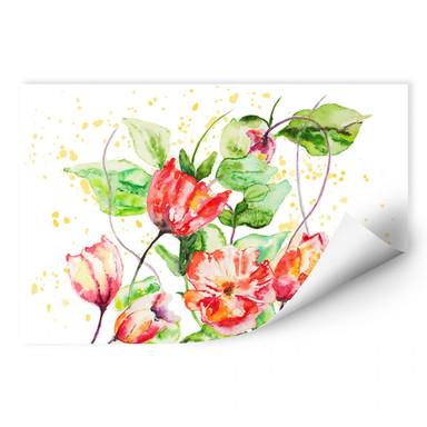 Wallprint Toetzke - Gartenblumen