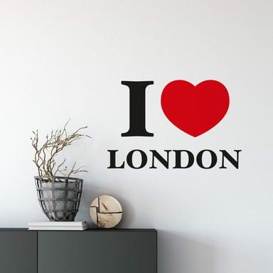 Wandsticker I love London