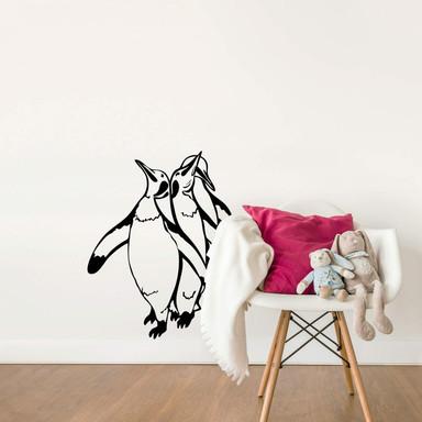 Wandtattoo Pinguine Silhouette