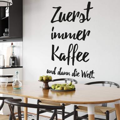 Wandtattoo Zuerst immer Kaffee...