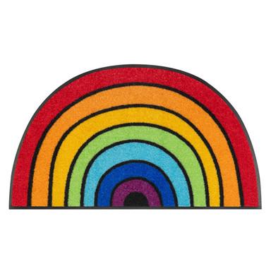 Wash&Dry Fussmatte Round Rainbow 50x85cm