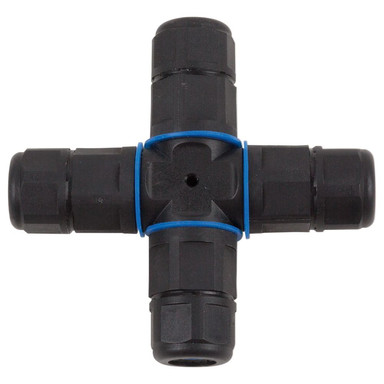 X-Kabelverbinder 3pol 230V IP68 in Schwarz