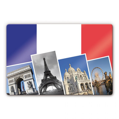Glasbild Attractions de Paris