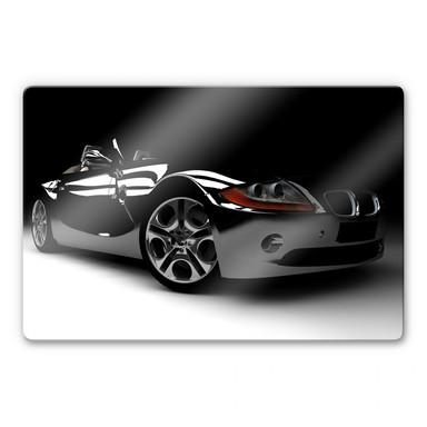 Glasbild Black Car