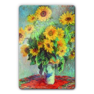 Glasbild Monet - Sonnenblumen