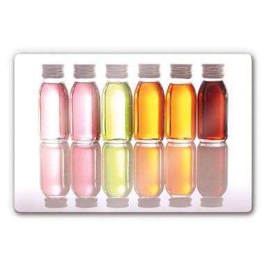 Glasbild Oil Bottles