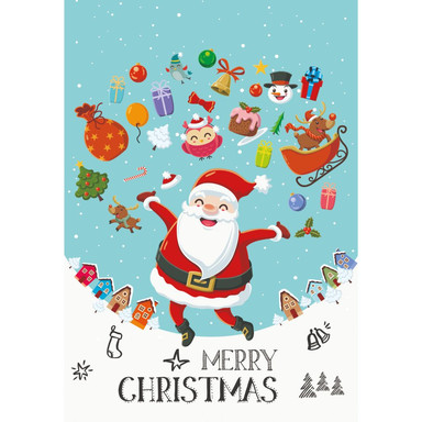 Gutschein Weihnachten - Weihnachtsmann Geschenke - Merry Christmas
