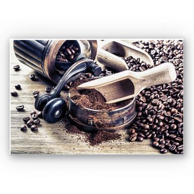 Hartschaumbild Kaffeeduft