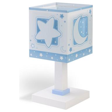 Kinderzimmer Tischleuchte Moonlight in Blau fluoreszierend E14