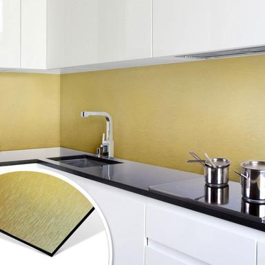 Küchenrückwand - Alu-Dibond-Goldeffekt