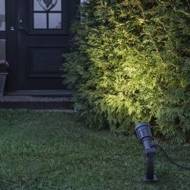 LED Outdoor Spot Fixture in Schwarz mit einstellbarem Winkel