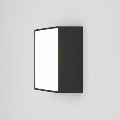 LED Wand- und Deckenleuchte Kea in Schwarz 5.3W 348lm IP65 140x140mm