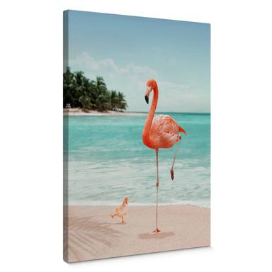 Leinwandbild Loose – Wannabe Flamingo