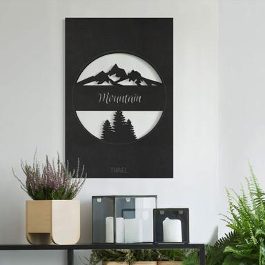 MDF - Holzdeko Travel Mountain