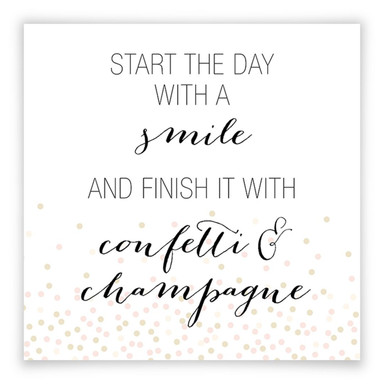 Poster Confetti & Cream - Start the day with a smile