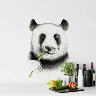 Wandtattoo Kvilis - Panda kaut Bambus