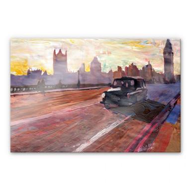 Acrylglasbild Bleichner - London in der Abenddämmerung