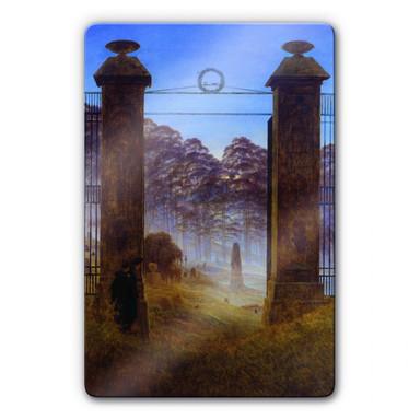 Glasbild Friedrich - Der Friedhof