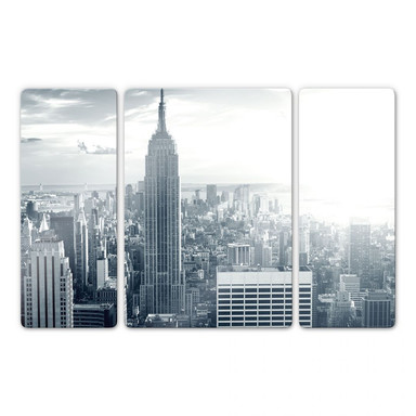 Glasbild The Empire State Building (3-teilig)