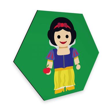 Hexagon - Alu-Dibond Gomes - Schneewittchen Spielzeug