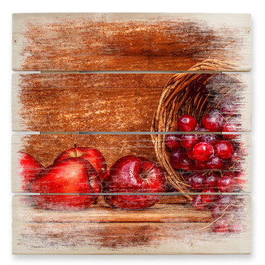 Holzbild Perfoncio - Rote Früchte