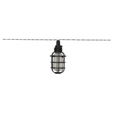 LED Solar Lichterkette Cage in Schwarz 8-flammig IP44