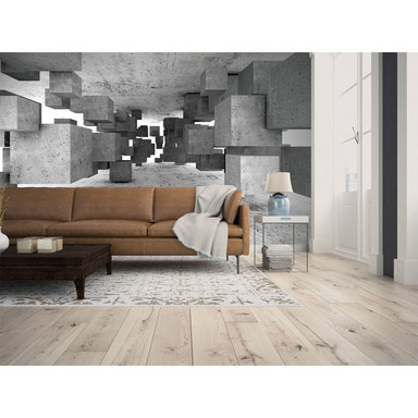 Livingwalls Fototapete Designwalls Concrete Tetris in 3D Optik - Bild 1