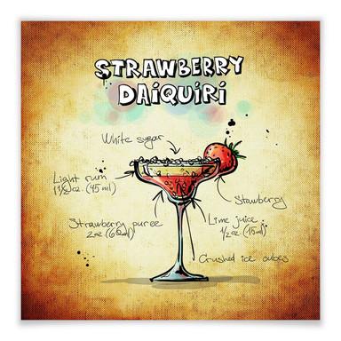 Poster Strawberry Daiquiri - quadratisch