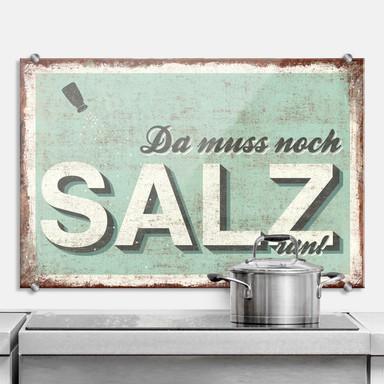 Spritzschutz Da muss noch Salz ran