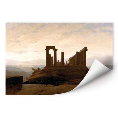 Wallprint Friedrich - Der Junotempel in Agrigent